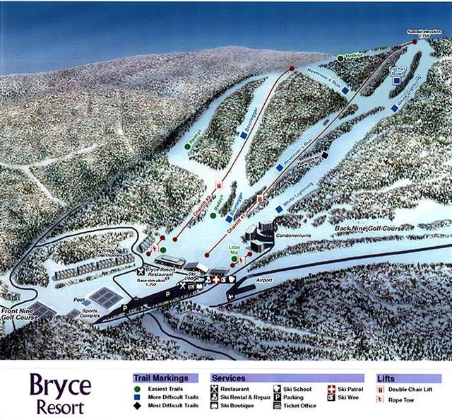 Bryce Resort Trailmap